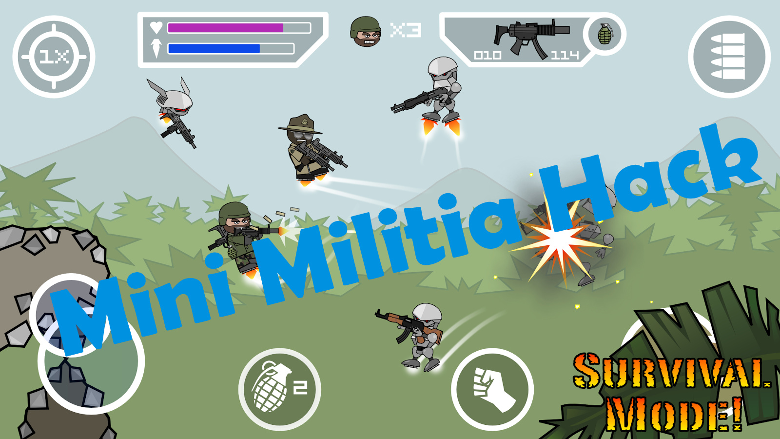 mini militia trick hack