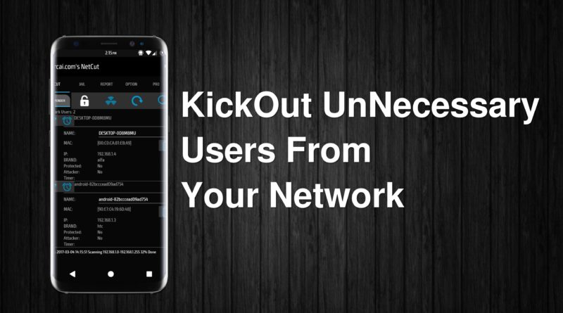 disconnects other users from network