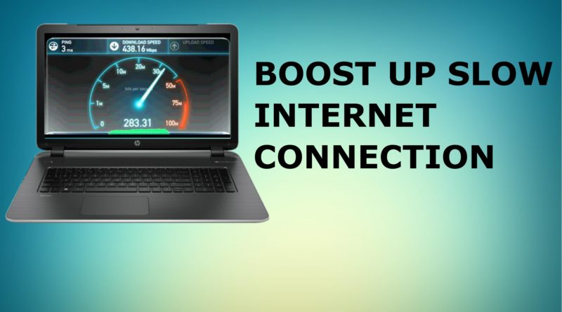 BOOST SLOW INTERNET CONNECTION