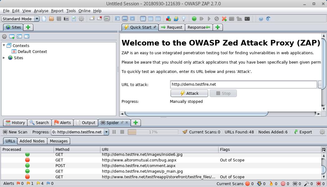 OWASP-ZAP hacking tool