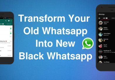 Black WhatsApp - How To Make WhatsApp Fancy & Unique