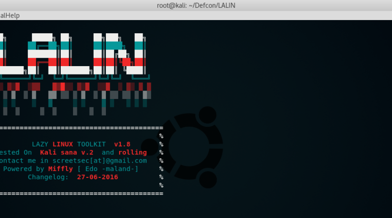 Lalin - The ultimate kali linux toolkit
