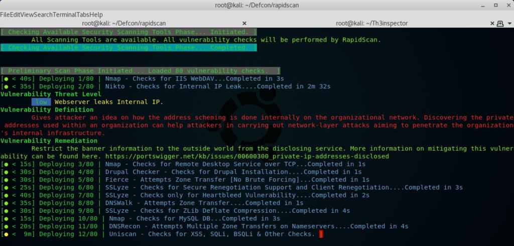 RapidScan - The Multi-Tool Web Vulnerability Scanner 2018