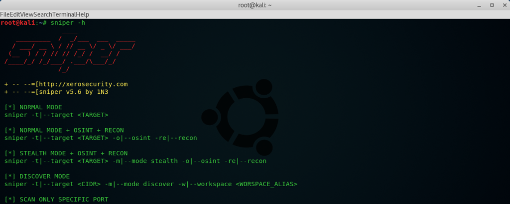Sn1per-The Most Advanced Automated Pentest Recon Scanner