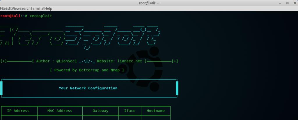 xerosploit tool