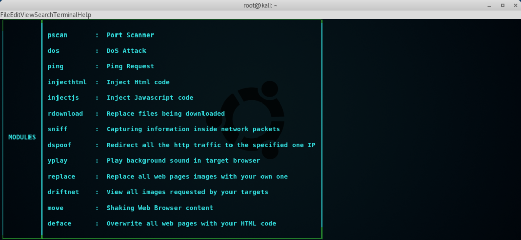 Xerosploit Advanced MITM - Sniffing| Spoofing| Injecting JS