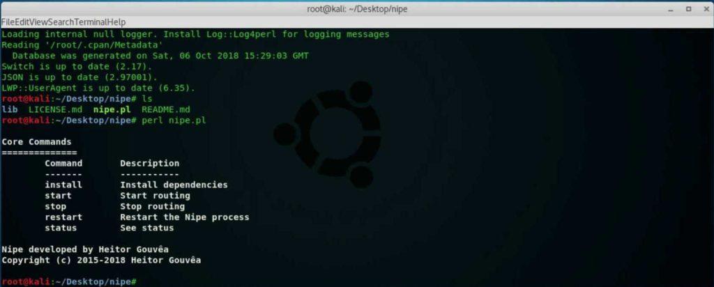 Nipe - Massive Script to Set Tor Network Your Default Gateway